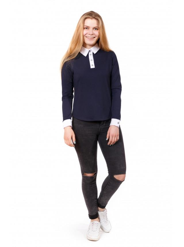 Джемпер - Рубашка из двунитки в сочетании с бенгалином