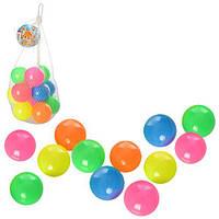 Мяч пластиковый для сухого басейна d=6см, в упаковке 12шт. M 3360