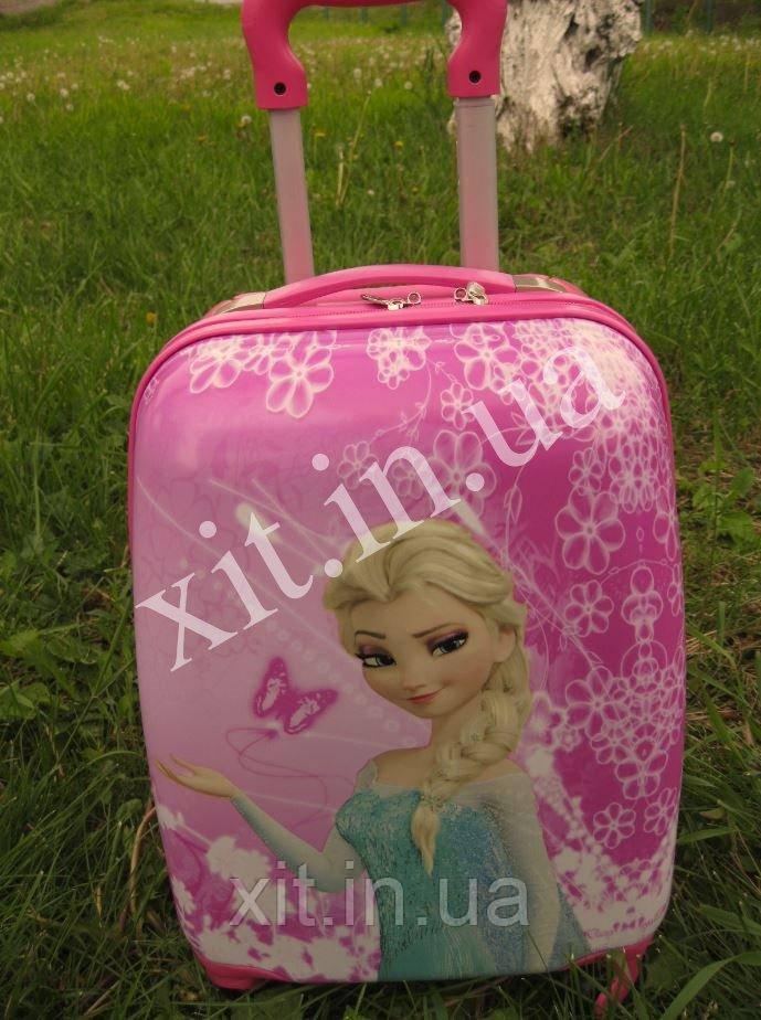 "Детский чемодан 16"" на колесах Эльза, Холодное сердце (Фрозен)"