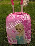 "Детский чемодан 16"" на колесах Эльза, Холодное сердце (Фрозен), фото 1"