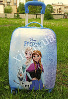 "Детский чемодан 16"" на колесах Холодное сердце, фото 1"