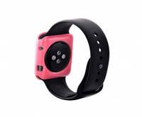 """Силиконовый чехол """"Devia"""" розовый для Apple Watch 38mm"""