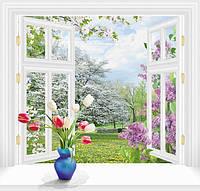 "Фотообои ""За окном весна 140х145 (6Л)"" Ника"