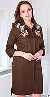 Платье Юрс-17-709ш белорусский трикотаж цвета шоколад