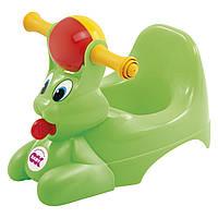 Детский горшок с музыкальной шкатулкой Spidy зеленый (37820040/44)