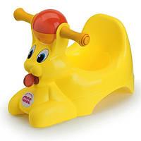 Детский горшок с музыкальной шкатулкой Spidy желтый (37829900/38)
