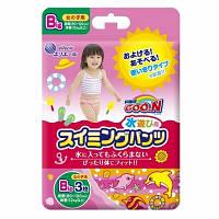 Трусики-подгузники для плавания Goo.N для девочек от 12 кг, ростом 80-100 см (размер Big (XL), 3 шт) (853037)