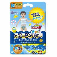 Трусики-подгузники для плавания Goo.N для мальчиков 7-12 кг, ростом 60-80 см (размер M, 3 шт) (853032)