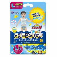Трусики-подгузники для плавания Goo.N для мальчиков 9-14 кг, ростом 70-90 см (размер L, 3 шт) (853034)