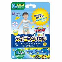 Трусики-подгузники для плавания Goo.N для мальчиков от 12 кг, ростом 80-100 см(размер Big (XL),3 шт) (853036)