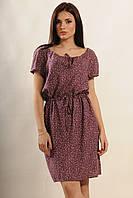 Легкое летнее платье с цветочным принтом