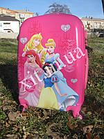 "Детский чемодан 18"" на 4 колесах Принцесса"