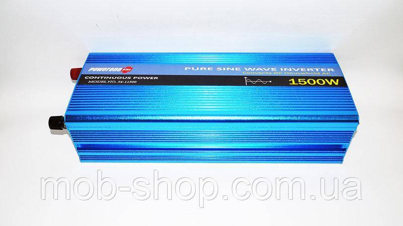 Инвертор преобразователь напряжения Power Inverter Powerone 1500W с чистой синусоидой AC/DC 12v