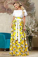 Стильная женская юбка 2168 желтый
