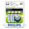 Аккумулятор пальчиковый Philips AA 2450 MultiLife