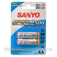 Аккумулятор пальчиковый Sanyo AA 2500 2шт