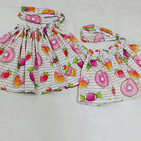 Комлект юбка + бандана для сестричек