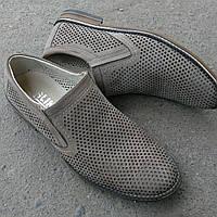 Летние мужские туфли ALIN*S из натурального турецкого нубука