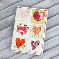 "Обложка для паспорта ""Love is in the air"" + блокнотик, фото 1"