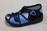 Тапочки на мальчика с железной застежкой, текстильная обувь тм Zetpol р.19
