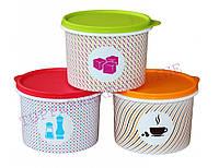 Набор Контейнеров Кофе Соль Сахар 1,3 л 3 шт. Tupperware