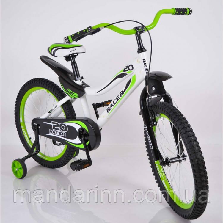 Велосипед детский 20 дюймов V-BIKE Green (синий и зеленый)