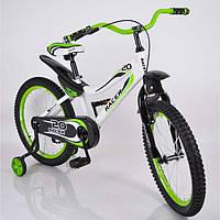 Велосипед детский 20 дюймов V-BIKE Green (синий и зеленый), фото 1
