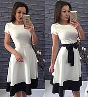 Платье Беби-дол белое с чёрным