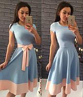 Платье Беби-дол голубое с пудрой