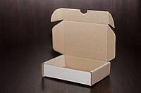 Картонная коробка, самосборная, белая 12х9х3 см (от 50шт), фото 1