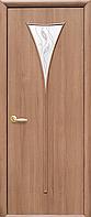 Двери межкомнатные Новый Стиль, МОДЕРН, модель Бора ПВХ, со стеклом сатин и рисунком Р3