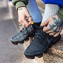 Мужские кроссовки Nike Air VaporMax Flyknit Triple Black, Найк Аир Вапор Макс, фото 3