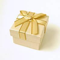 Коробочка для кольца-серег 54047 бежевый, размер 5*4 см