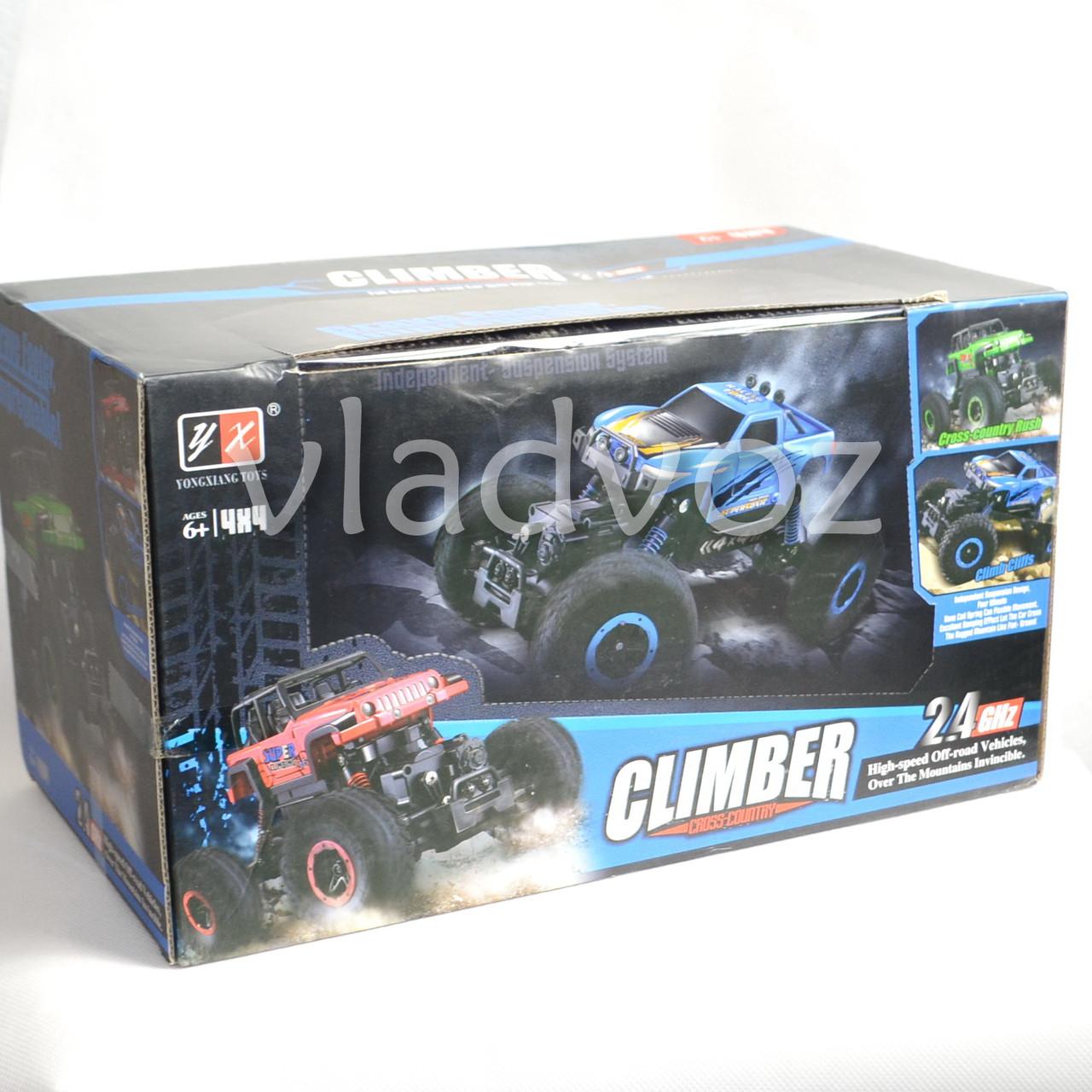 Упаковка джипа на радиоуправлении 4x4 Climber Crawler синего цвета