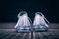 Мужские кроссовки Nike Air Vapormax Flyknit Pure Platinum/White/Wolf Grey, Найк Аир Вапор Макс, фото 3