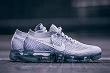 Мужские кроссовки Nike Air Vapormax Flyknit Pure Platinum/White/Wolf Grey, Найк Аир Вапор Макс, фото 2