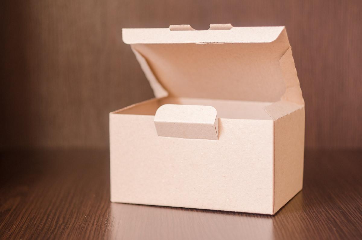 Картонная коробка, самосборная, бурая 16х12х9 см (от 50шт)