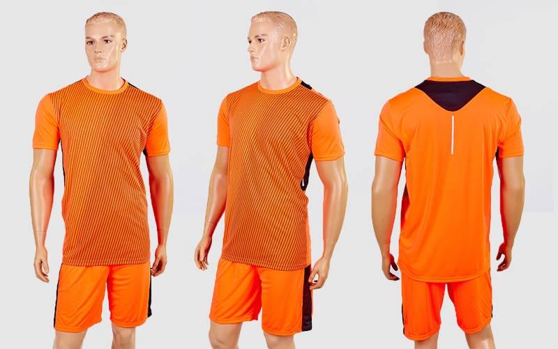 Футбольная форма Variation CO-1011-OR (PL, р-р M-XXL, коралловый-черный, шорты коралловые)