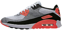 Мужские кроссовки Nike Air Max 90 Flyknit Infrared Grey