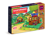 Магнитный конструктор Magformers Мой домик в лесу, 87 элементов