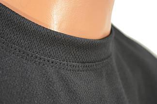 Термофутболка чёрная потоотводящая из ткани кулмакс, фото 3