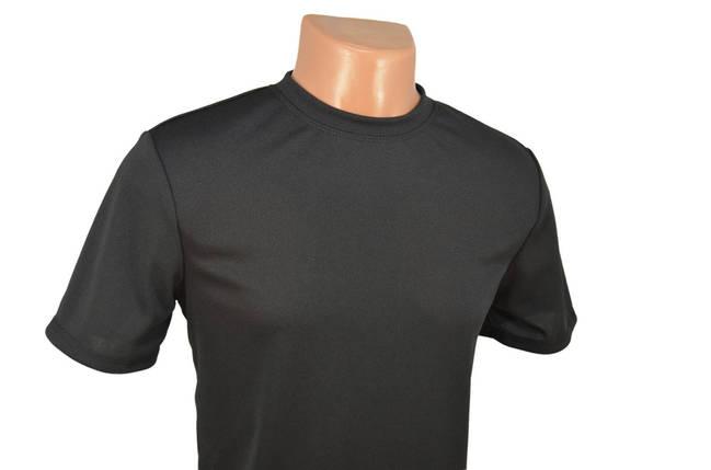 Термофутболка чёрная потоотводящая из ткани кулмакс, фото 2