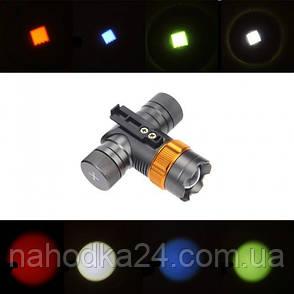 Налобный фонарь Police BL-H820 T6 50000W (3 фильтра), фото 2