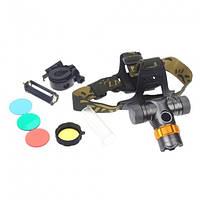 Налобный фонарь Police BL-H820 T6 50000W (3 фильтра)