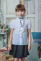 Блуза школьная белая с коротким рукавом