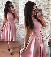 Платье Беби-дол в складку розовое