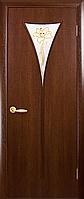 Двери межкомнатные Новый Стиль, МОДЕРН, модель Бора Экошпон, со стеклом сатин и рисунком Р1