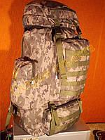 Рюкзак туристический камуфляжный Breeze 72162-7216 пиксель зеленый 65литров