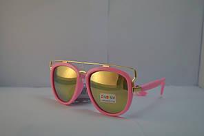 Розовые зеркальные очки для девочки