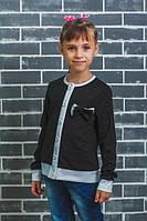 Пиджак школьный с бантиком